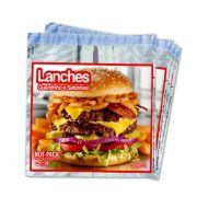 Embalagem Térmica Lanches Kit com 500 Lanchonetes e Padarias