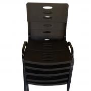 Kit 10 Cadeiras Plástica Empilhável Preto com Preto