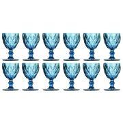 Taça de Água Diamante Azul 260ML Kit com 12