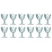 Taça de Água Diamante Clear 260ML Kit 12 Transparente Elegance