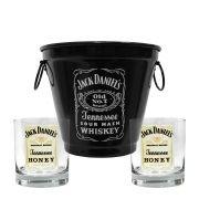 Kit Balde + 2 Copos Jack Daniel's Mel\Honey 290ml Whisky