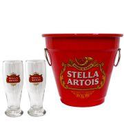 Kit Balde Cerveja + 2 Tulipa Stella Artois Home Bar