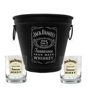 Kit Balde Fosco + 2 Copos Jack Daniel's Mel\Honey 290ml Whisky