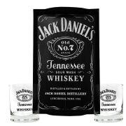 Kit Bandeja (P) + 2 Copos Jack Daniel's sem fundo 290ml Whisky