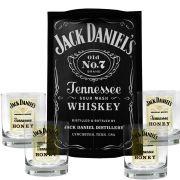 Kit Bandeja (P) + 4 Copos Jack Daniel's Honey Mel 290ml Whisky