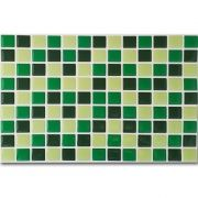 Pastilha Adesiva Resinada Mosaico Verde Escuro X Verde Amazonas X Verde Claro Fundo Branco