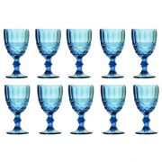 Taça de Água Elegance Azul 260ML Kit com 10