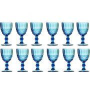 Taça de Água Elegance Azul 260ML Kit com 12