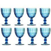 Taça de Água Elegance Azul 260ML Kit com 8