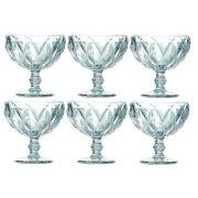 Taça de Sobremesa Coquetel Kit com 6 Diamante Transparente 300ml