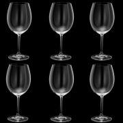 Taça de Vinho Cristal Bohemia 580 ml -  Kit 6 Unidades