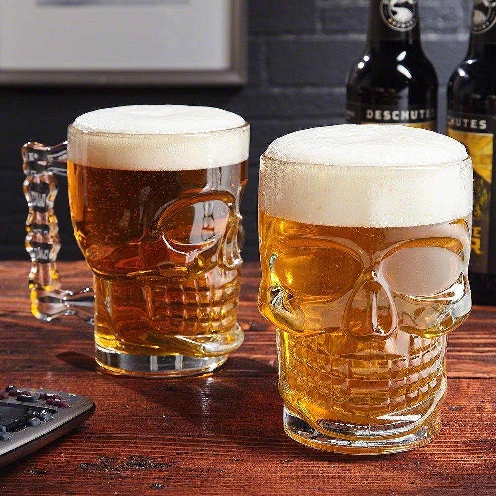 2 Canecas para Chopp / Cerveja Modelo Caveira 510ml