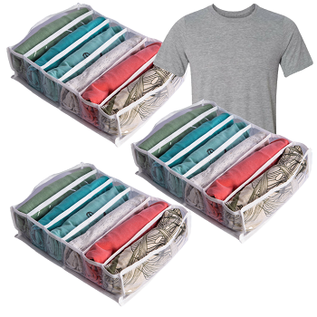 3 Colmeias - 6 Nichos Organizadores de Camiseta