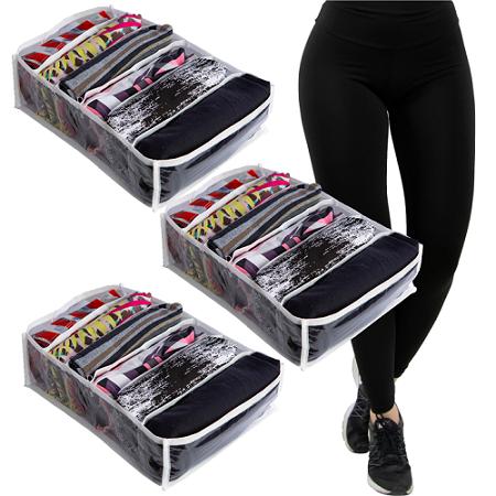 3 Colmeias - 6 Nichos Organizadores de Roupa Fitness