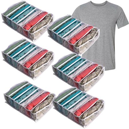 6 Colmeias - 6 Nichos Organizadores de Camiseta