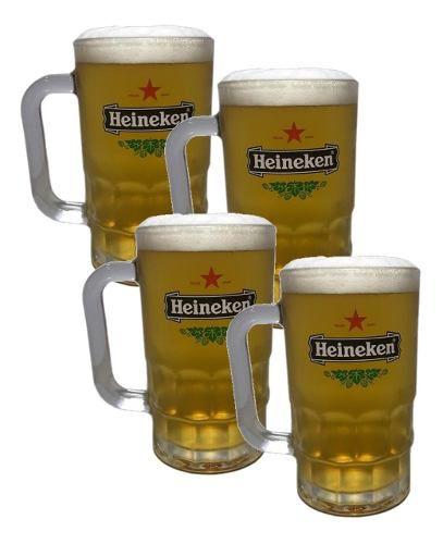 Kit 04 Canecas Para Cerveja Chopp - 370ml