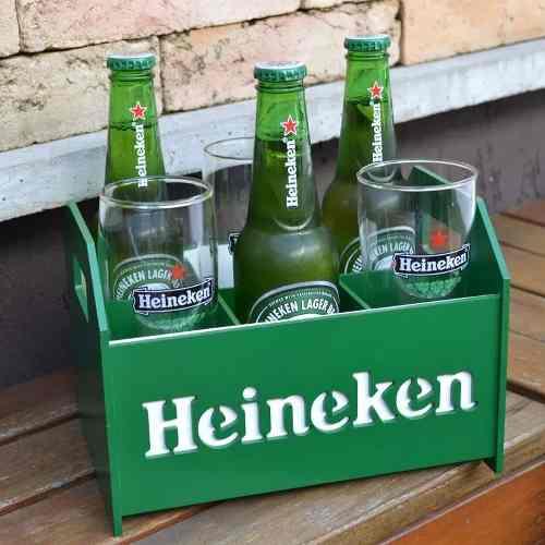 Kit Home Bar Cerveja Engradado + 2 Copos Tulipas