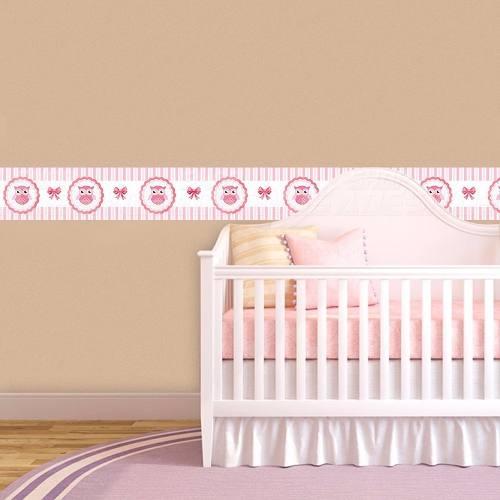 Adesivos Faixa Decorativa Kit 09 Quarto Infantil Corujinha