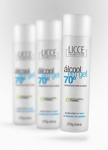 Alcool Gel 70°- 300ml - 03 Frascos Com Anvisa Pronta Entrega