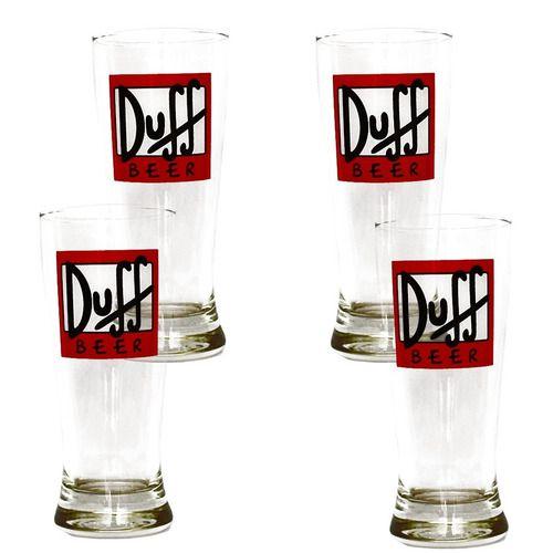 Kit 4 Copos Tulipa 290ml Cerveja Duff Home Bar