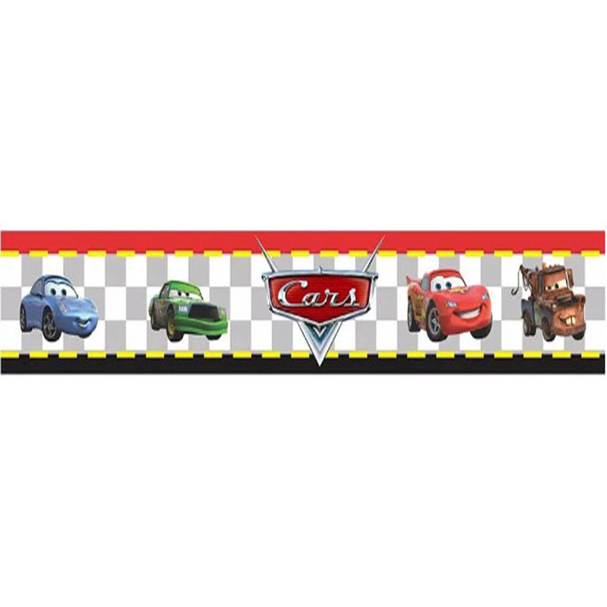 Adesivo de Parede Faixa Decorativa Para Quarto Infantil Cars Carros