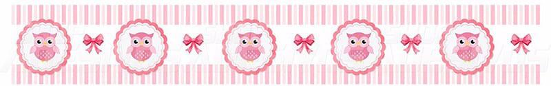 Adesivo de Parede Faixa Decorativa Para Quarto Infantil Corujinha