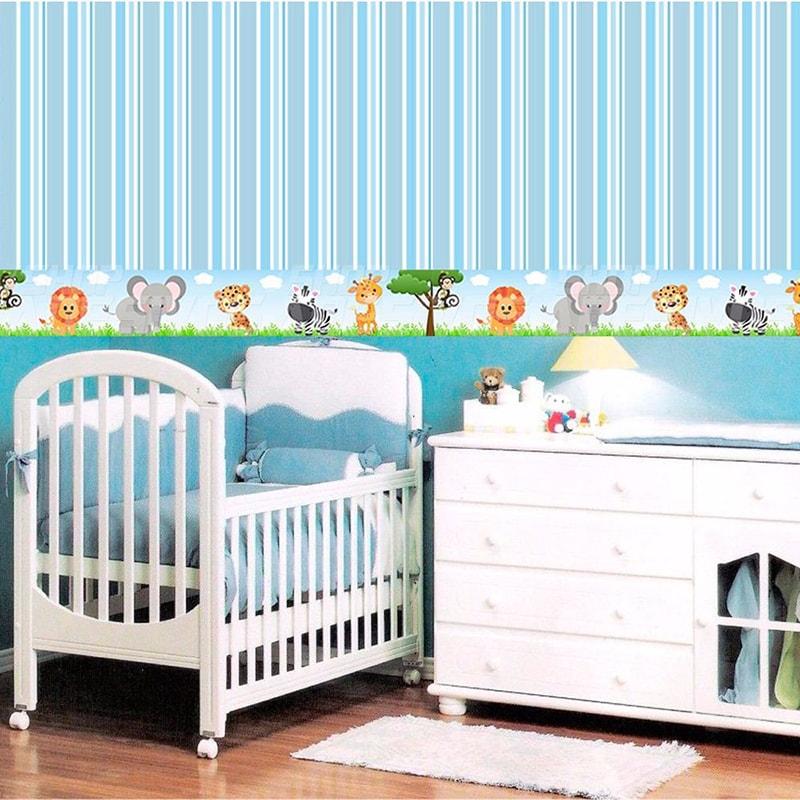 Adesivo de Parede Faixa Decorativa Para Quarto Infantil Safari