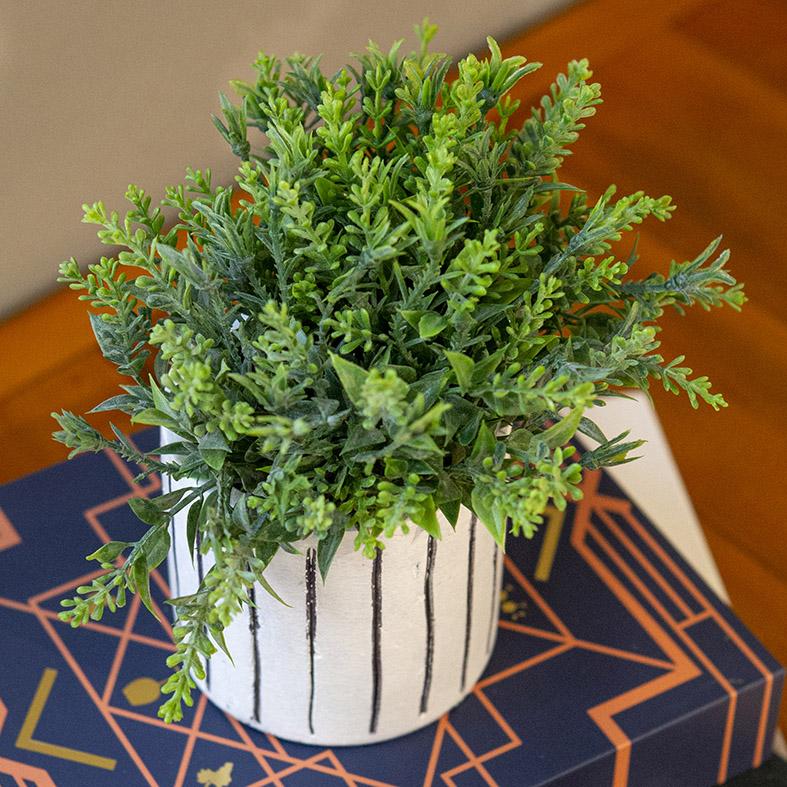 Buquê Verdinho Planta Artificial 3D Permanente Pick  26cm