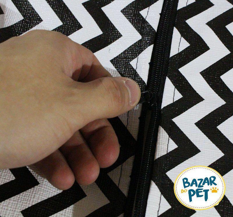 Caminha Cama Pet Dupla Face Pequeno 55cm Couro Chevron
