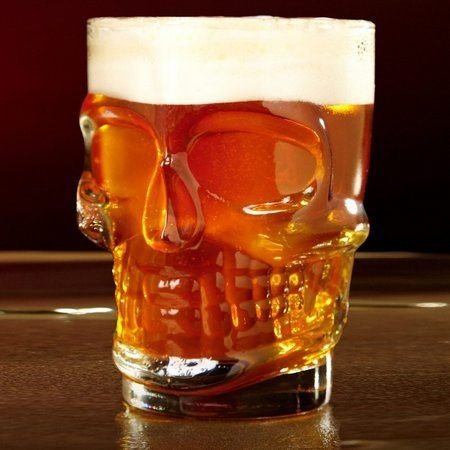 Caneca para Chopp / Cerveja Modelo Caveira 510ml