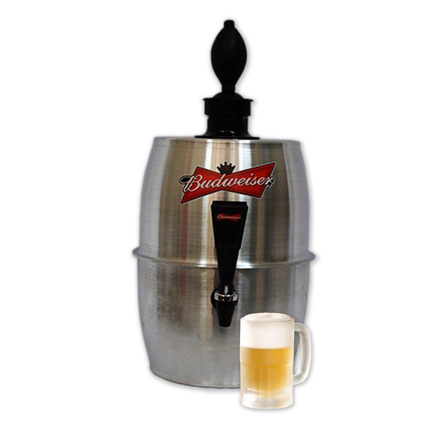 Chopeira Doméstica Portátil 4,9 Litros a Gelo Alumínio Budweiser -- Chopp Master