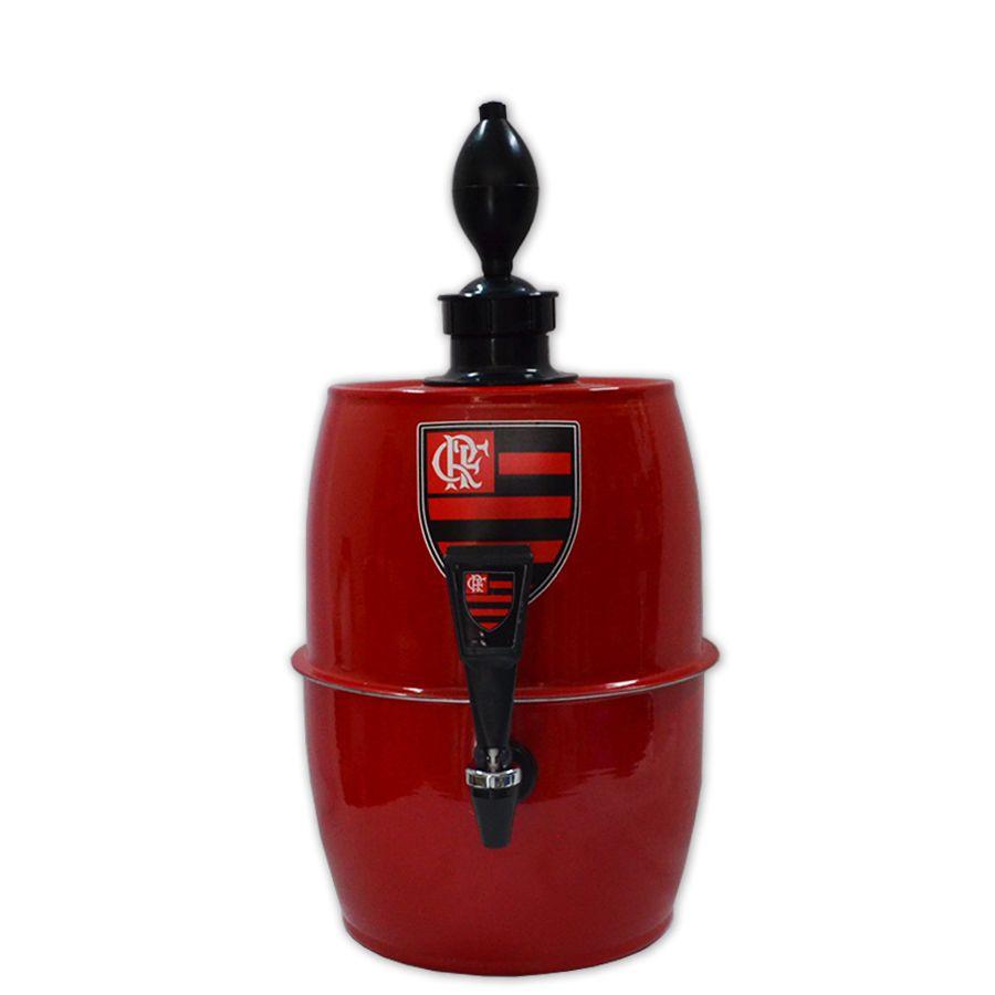 Chopeira Doméstica Portátil 5,2 Litros a Gelo Vermelha- Chopp Gelado