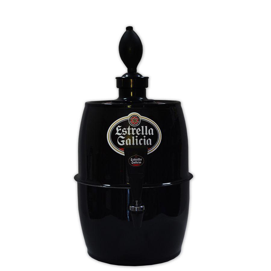 Chopeira Doméstica Portátil 5,2 Litros a Gelo Preta Estrella Galicia - Chopp Gelado
