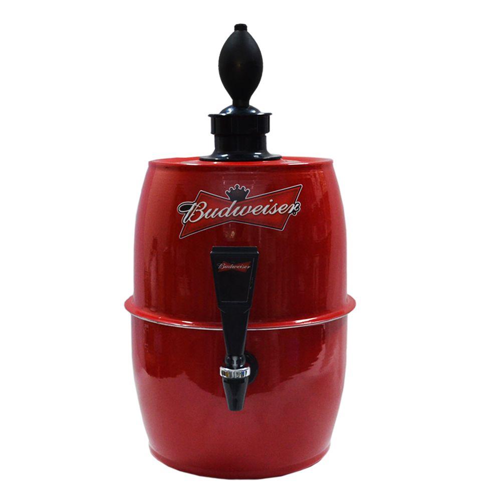 Chopeira Doméstica Portátil 5,2 Litros a Gelo Vermelho Budweiser -- Chopp Master