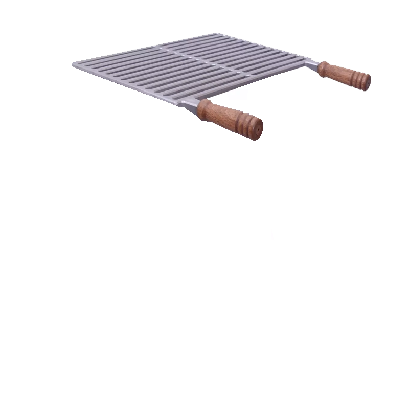 Churrasqueira Portátil de Alumínio Fundido 50x30 Desmontável e Grelha
