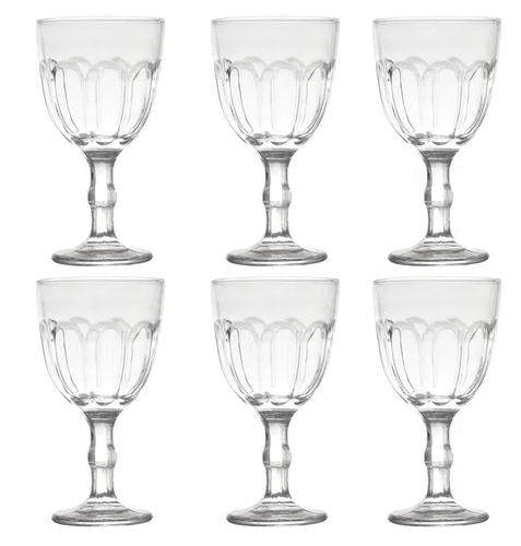 Conjunto 6 Taças de Água Casual 300 ml Modelo Faces