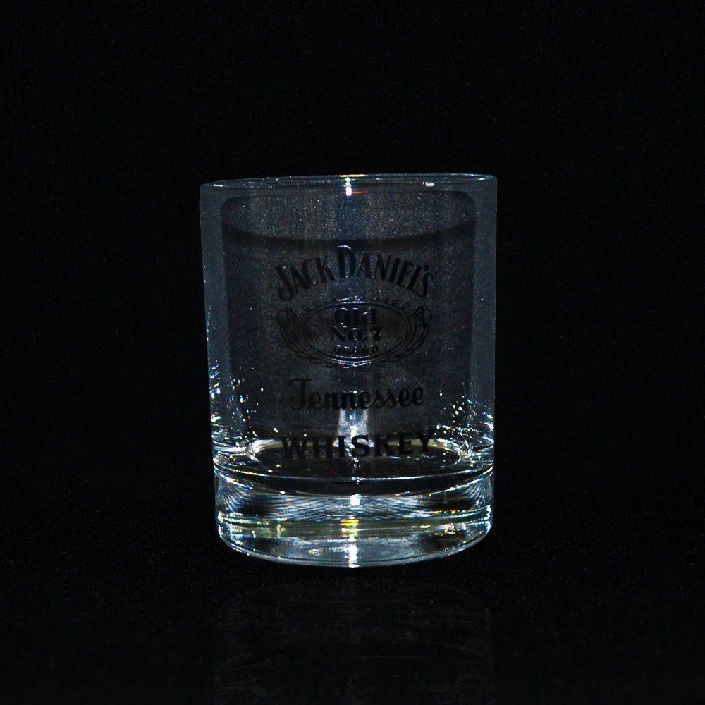 Copo Jack Daniel's Whisky Transparente Personalizado Drinks Home Bar Boteco 290ml