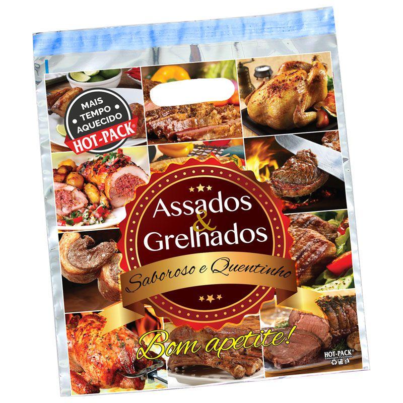 Embalagem Térmica Dupla Kit com 100 Carne E Frango Assado