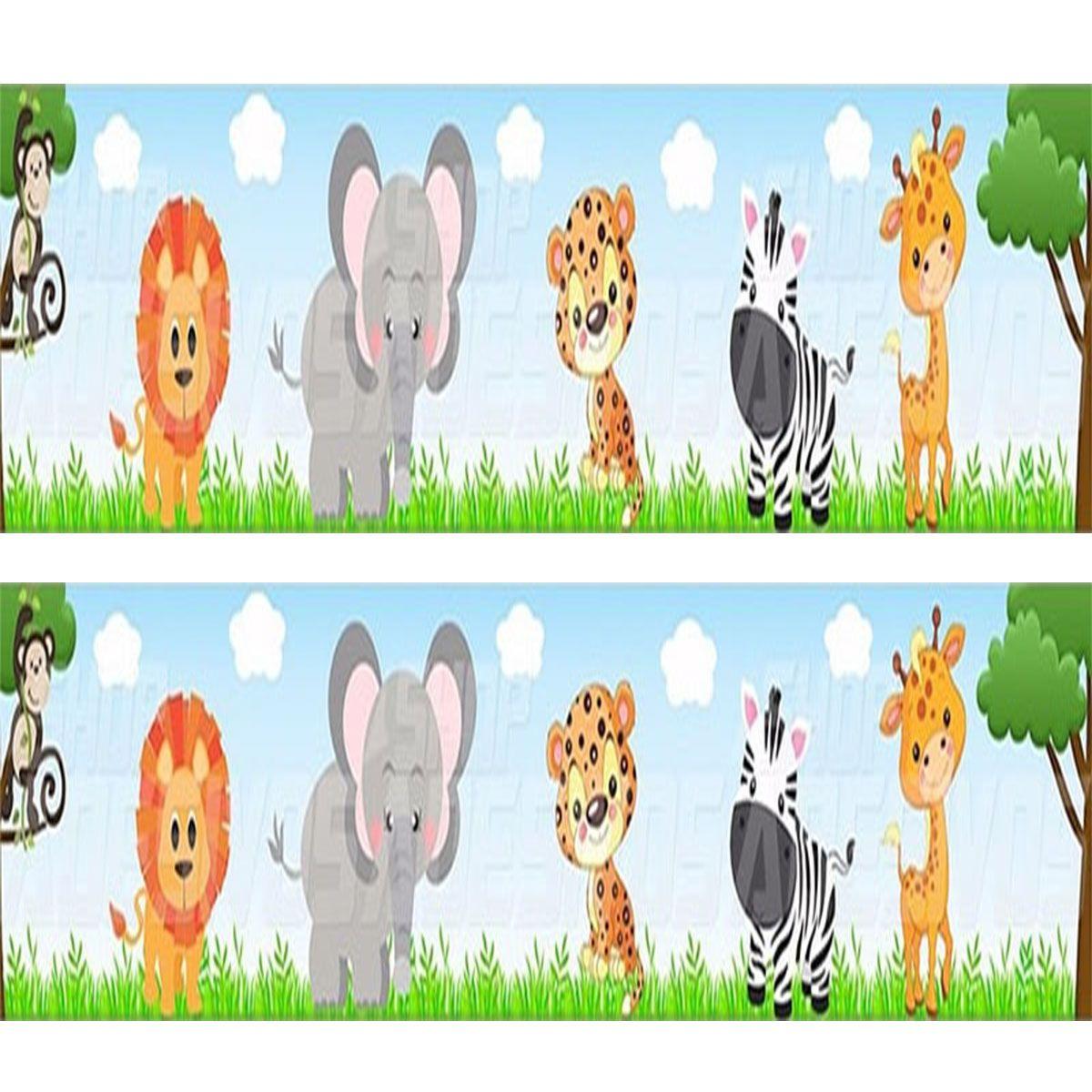 Faixa Decorativa p/ Quarto Infantil Bebe Adesivo Safari
