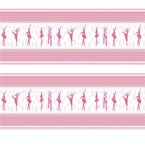 c3f4525d5a Adesivo de Parede Faixa Decorativa Para Quarto Infantil Bailarina - Decore  Fácil Shop