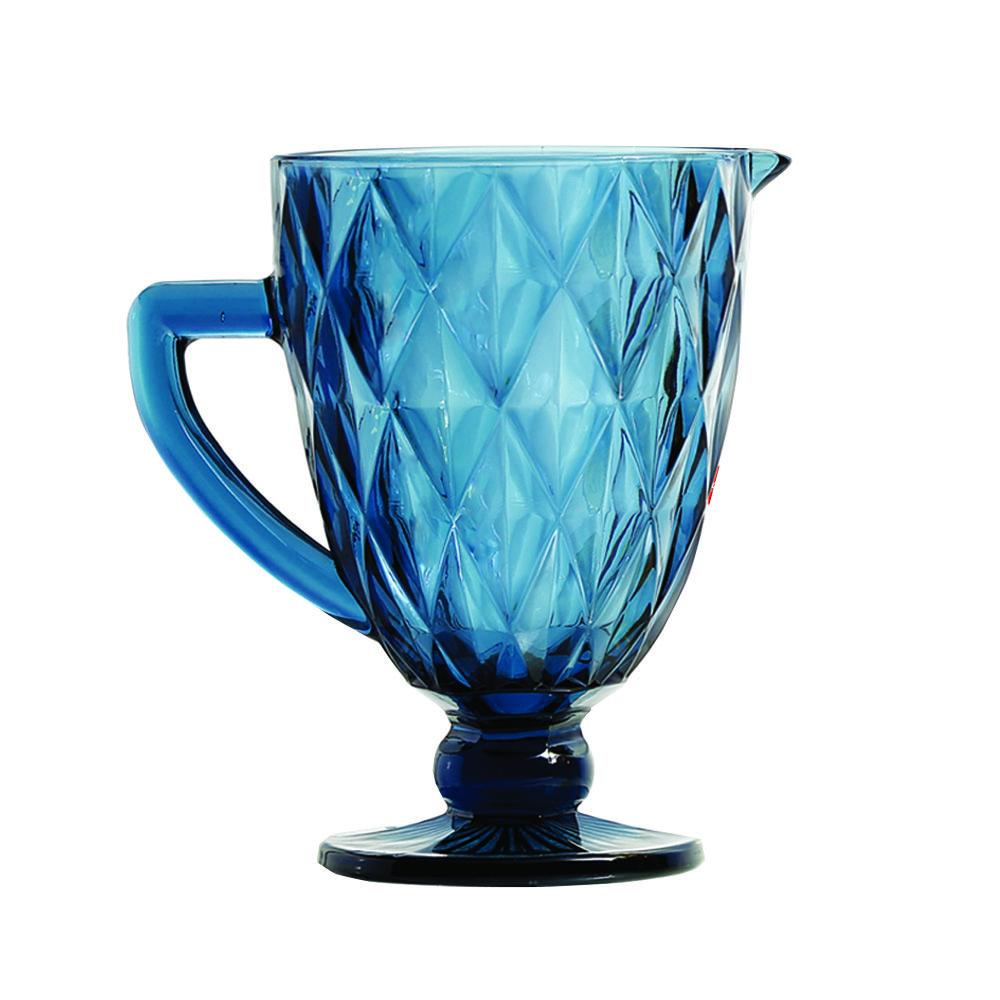Jarra De Vidro 1L Azul Diamante