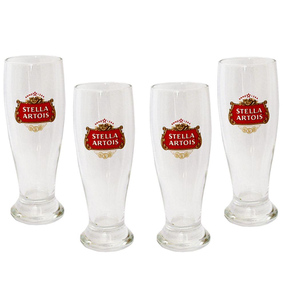 Jogo 4 Tulipa Cerveja Stella Artois Home Bar