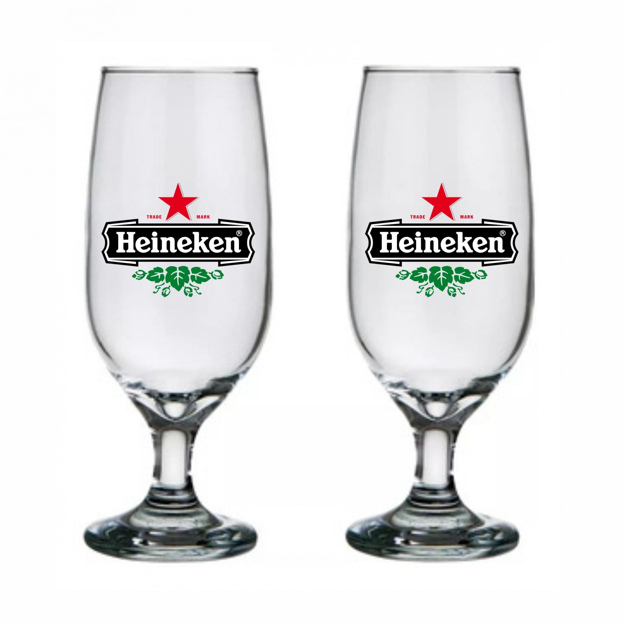 Jogo de 2 Taças em Vidro Cerveja HNK Home Bar