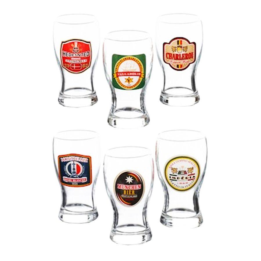 Jogo De Copos Para Cerveja Mini Frevo Rotulo Distel HMartin 200ml - 6 Peças
