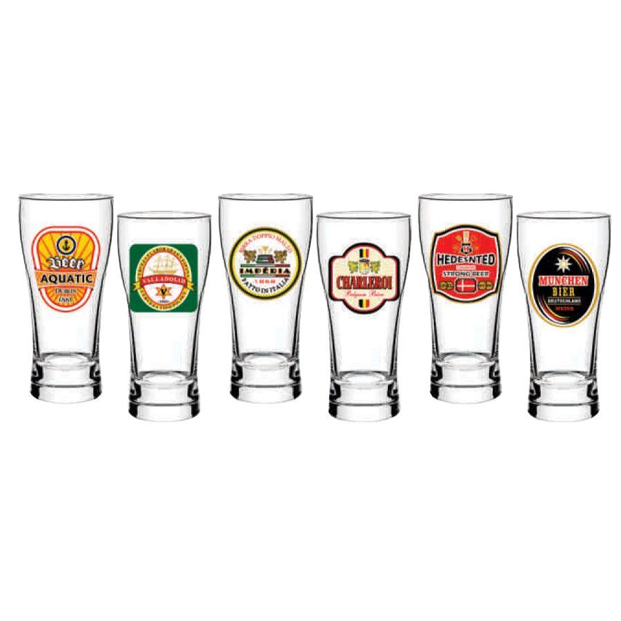 Jogo De Copos Para Cerveja Pagodinho Distel HMartin 200ml - 6 Peças