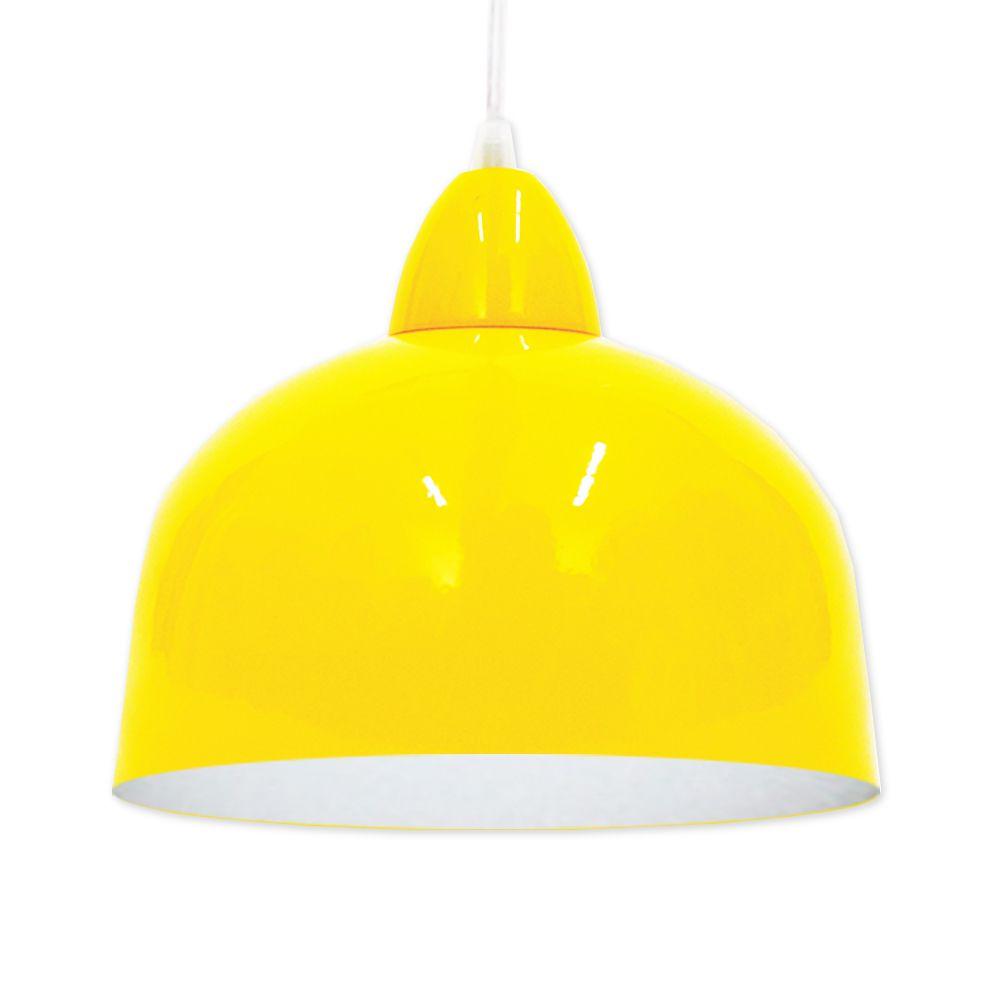 Kit Com 2 Pendentes Kin Amarelo com Branco