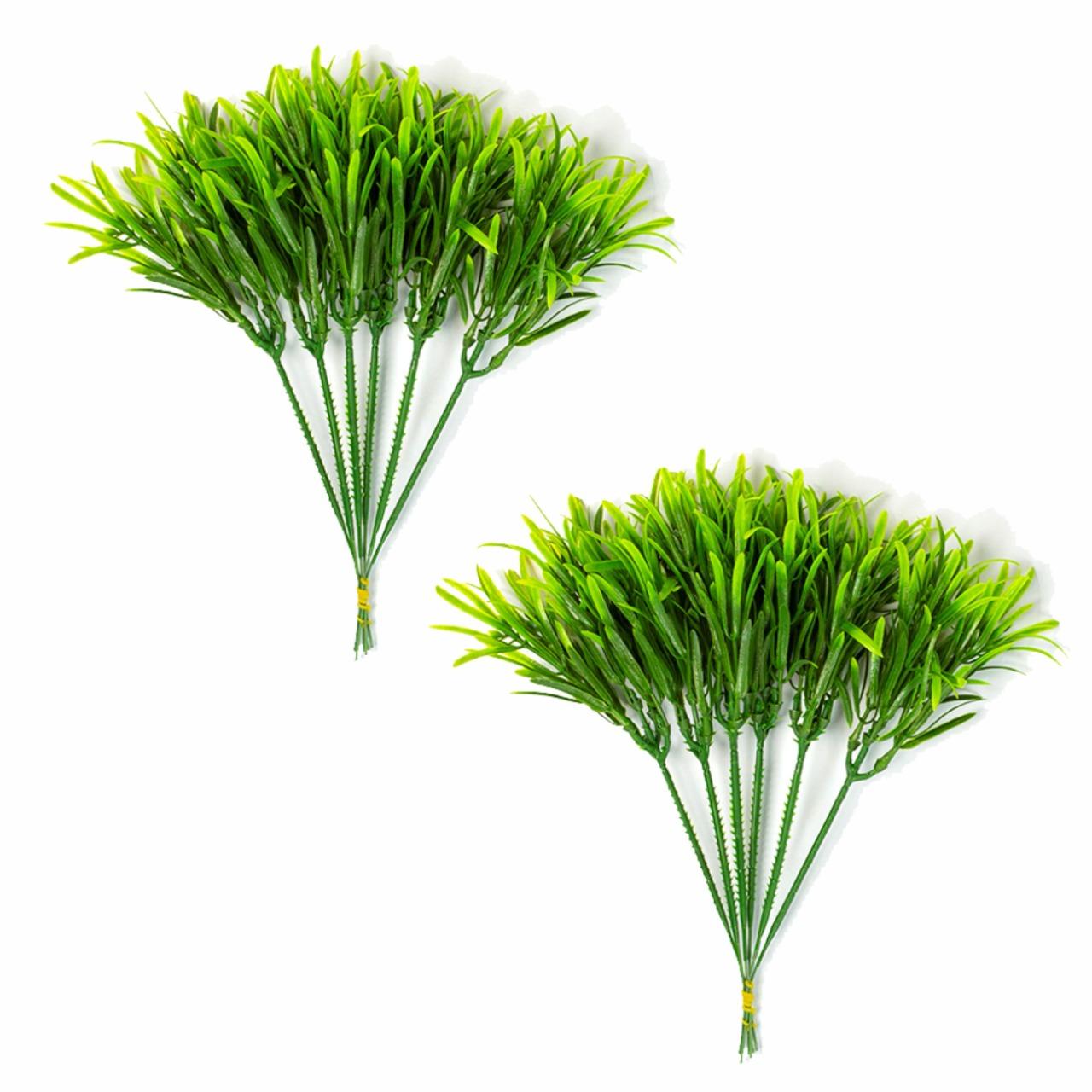 Kit 2 Pick Alecrim Planta Artificial Permanente  22cm