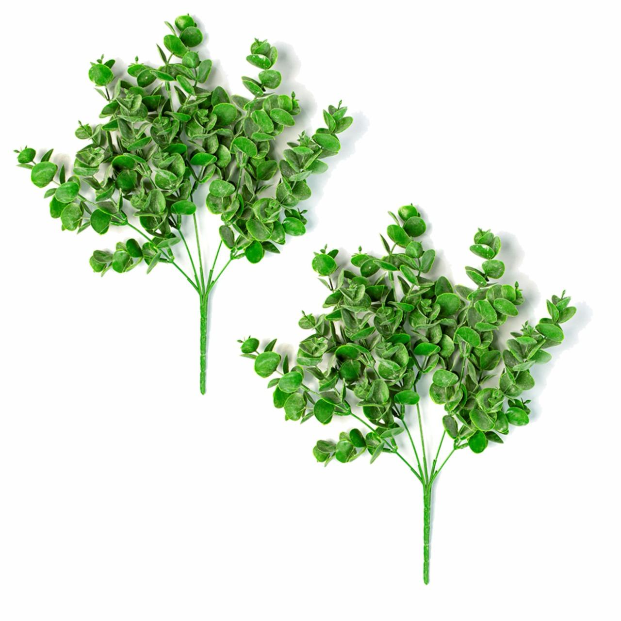 Kit 2 Pick Eucalipto Planta Artificial Permanente 33cm