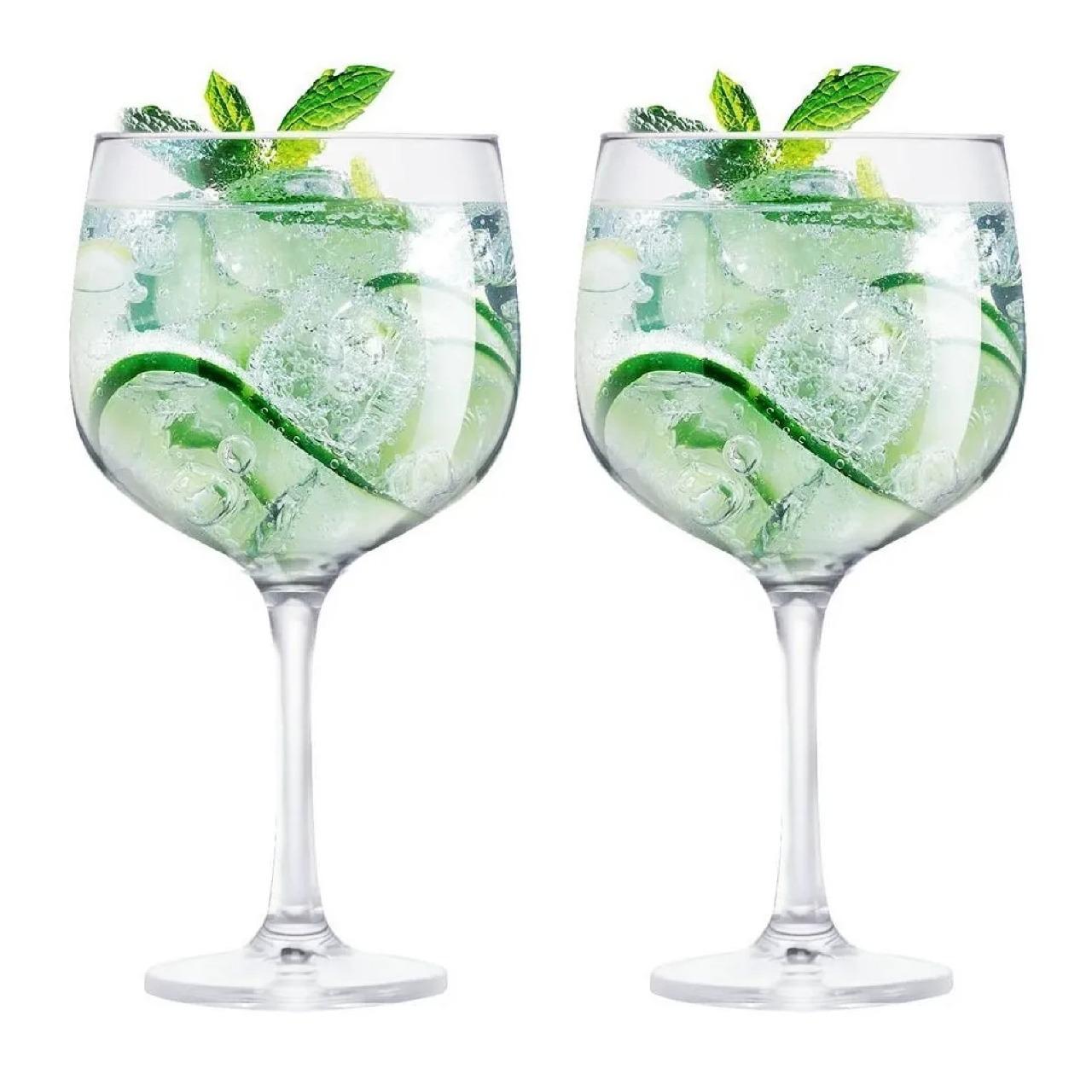 Kit 2 Taças de Gin Tônica em Vidro 650ml