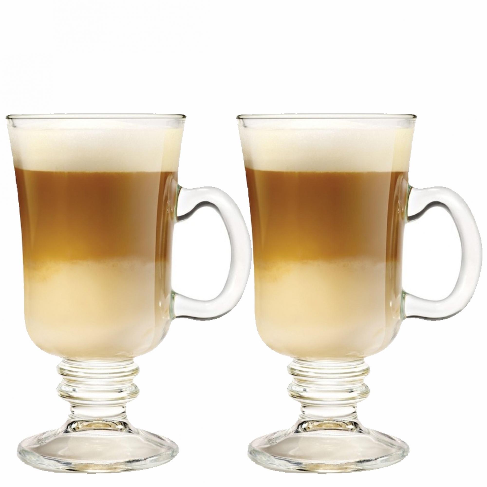 Kit 2 Taças de Vidro para Cappuccino Grande 230ml